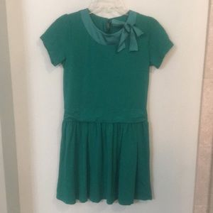 Garnet Hill Kids Emerald Green Dress